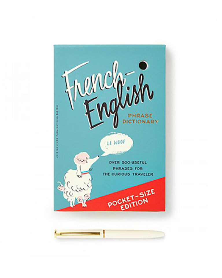 Kate Spade  French Dictionary Loose Note Holder With Pen,