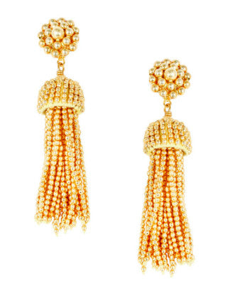 Lisi Lerch Tassel Earrings in Gold - Hattan Home - 1
