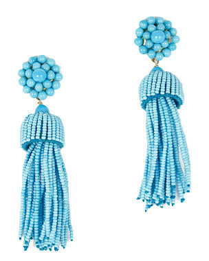 Lisi Lerch Tassel Earrings in Turquoise - Hattan Home - 1