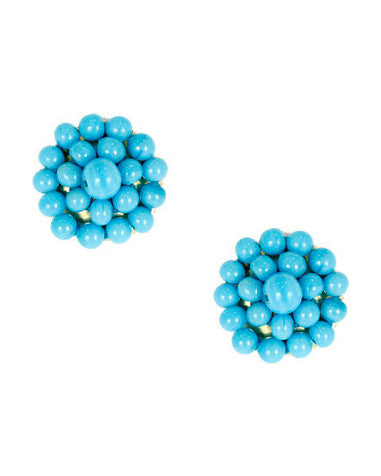Lisi Lerch Button Earring in Turquoise - Hattan Home - 1