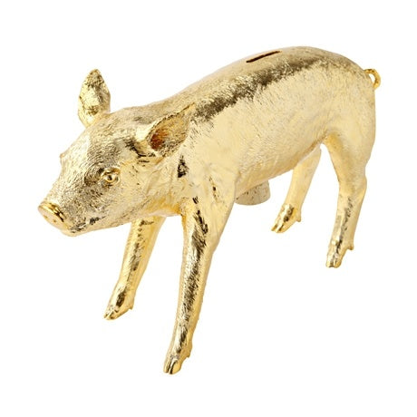 Harry Allen Piggy Bank in Gold - Hattan Home - 8