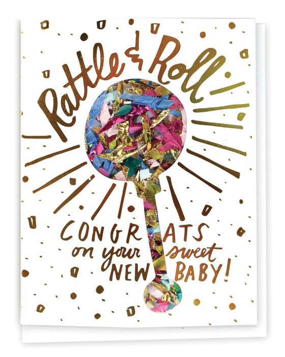 Rattle & Roll Confetti Card - Hattan Home - 1