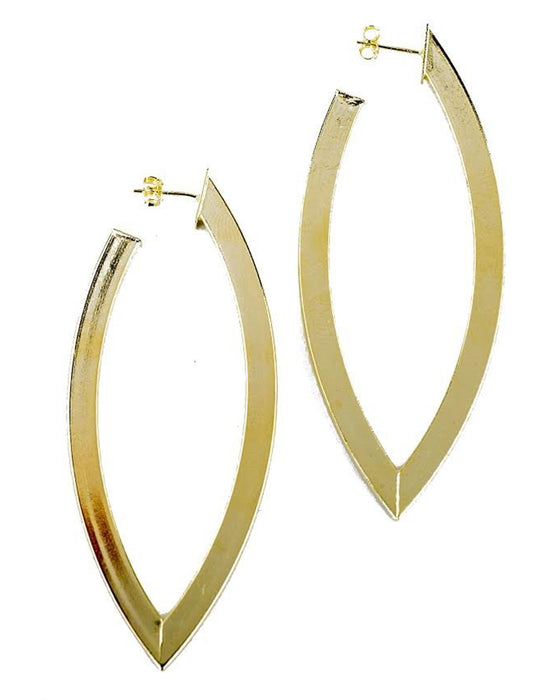 Alba Hoop Earrings in Brushed Gold