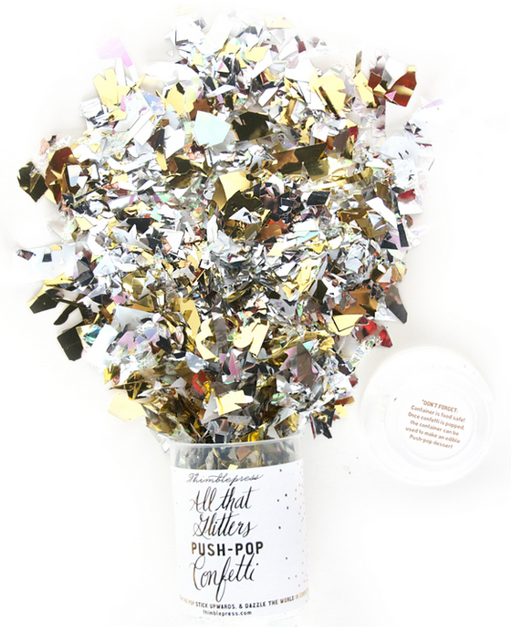 Thimble Press All That Glitters Push Pop Confetti - Hattan Home - 1