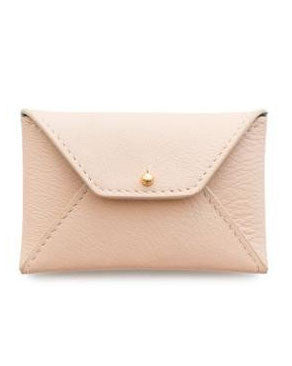 Sugar Paper LA Pale Pink Leather Card Holder - Hattan Home - 1