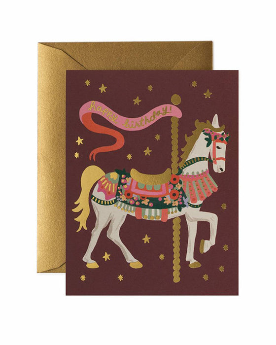 Rifle Paper Carousel Birthday Card