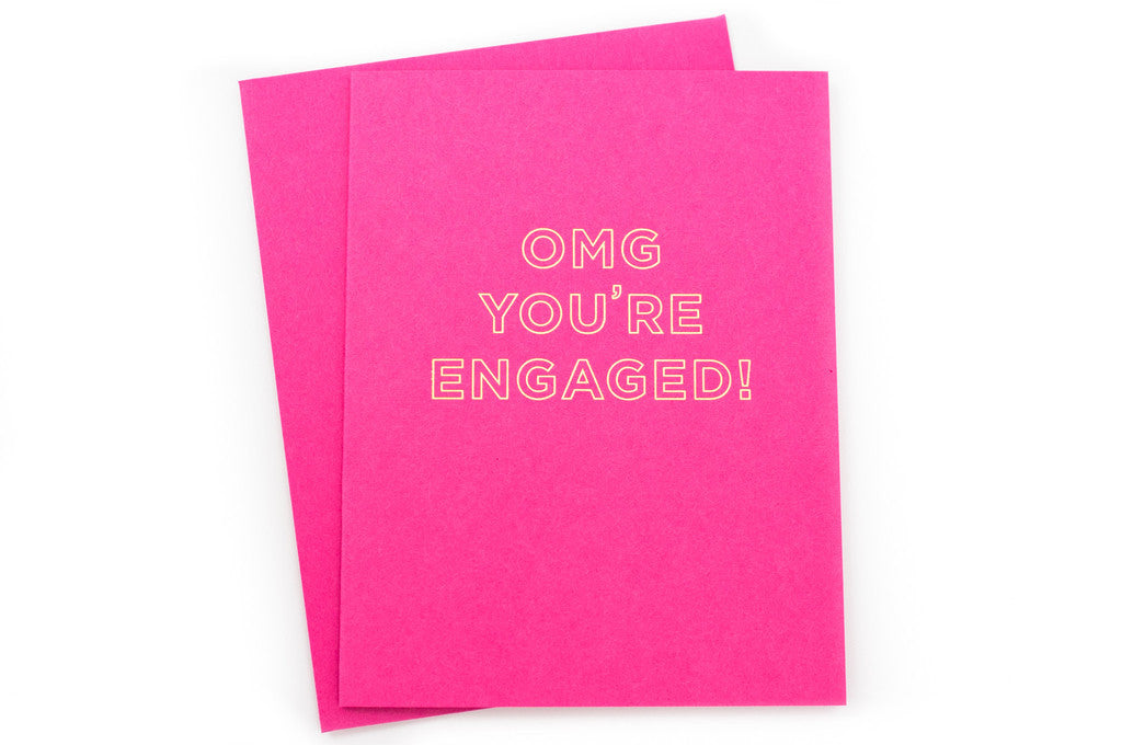 OMG You're Engaged Card - Hattan Home - 3
