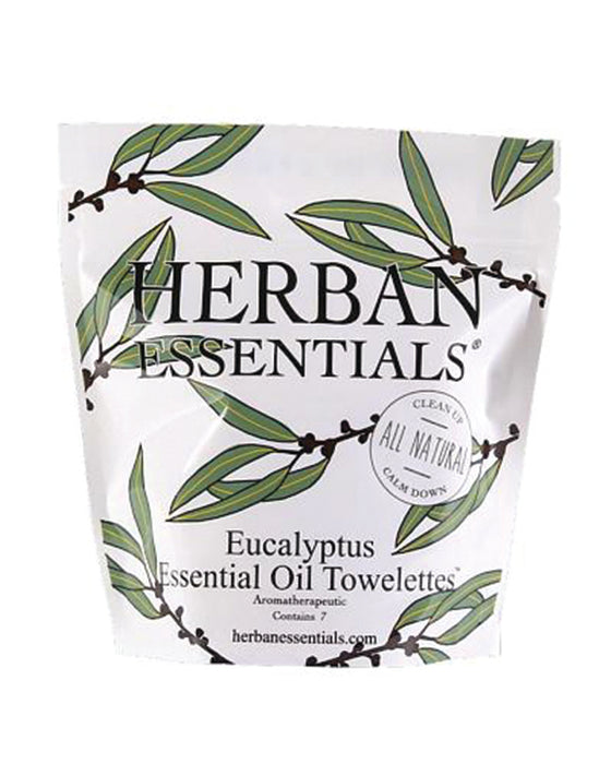 Herban Essentials Eucalyptus Essential Oil Towelettes