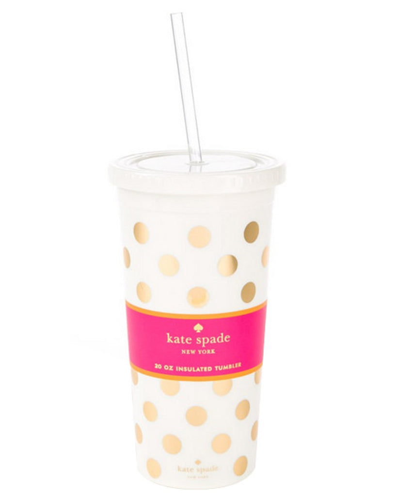 Kate Spade New York Gold Polka Dot Tumbler - Hattan Home - 2