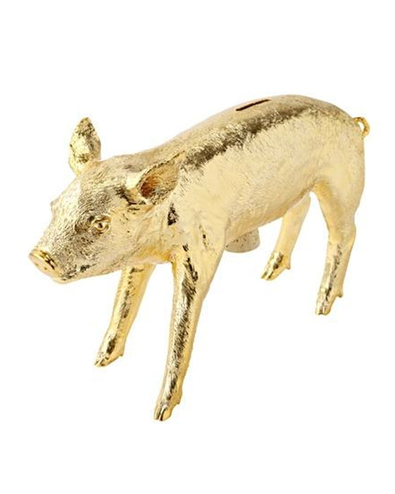 Harry Allen Piggy Bank in Gold