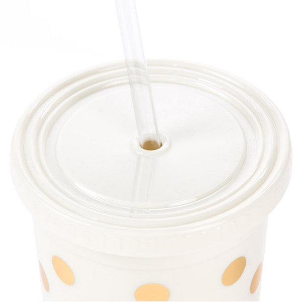 Kate Spade New York Gold Polka Dot Tumbler - Hattan Home - 7