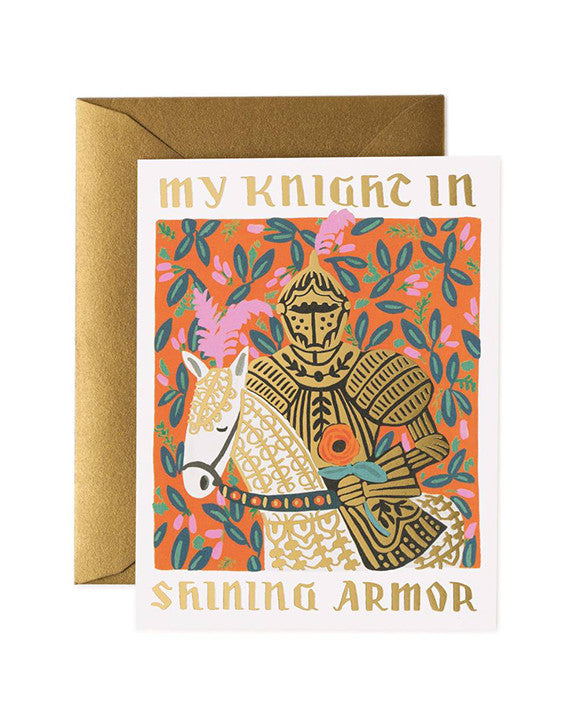 Rifle Paper Knight in Shining Armor Card