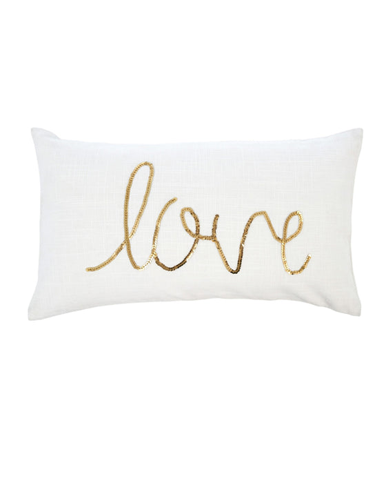 Indaba Love Sequin Throw Pilllow Cushion