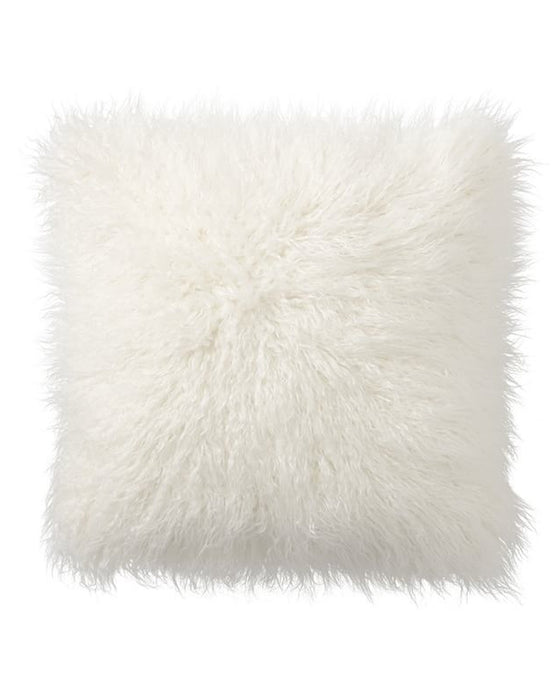 White Fluffy Fur Pillow