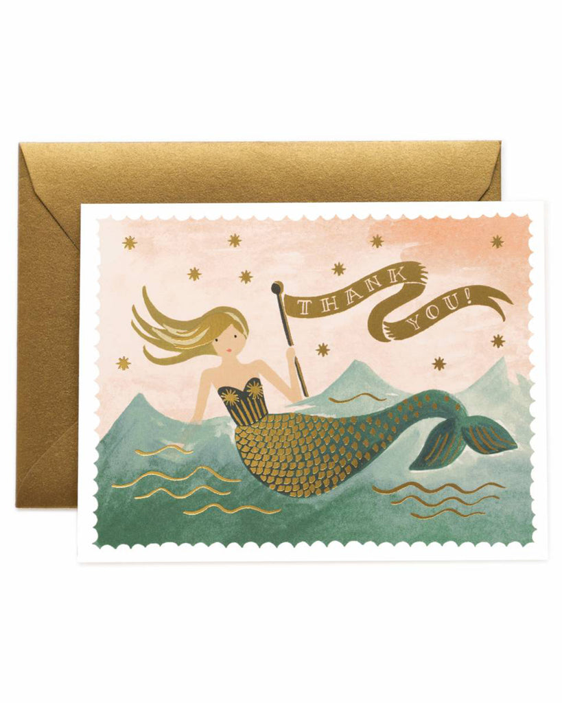 Rifle Paper Thank You Vintage Mermaid Card