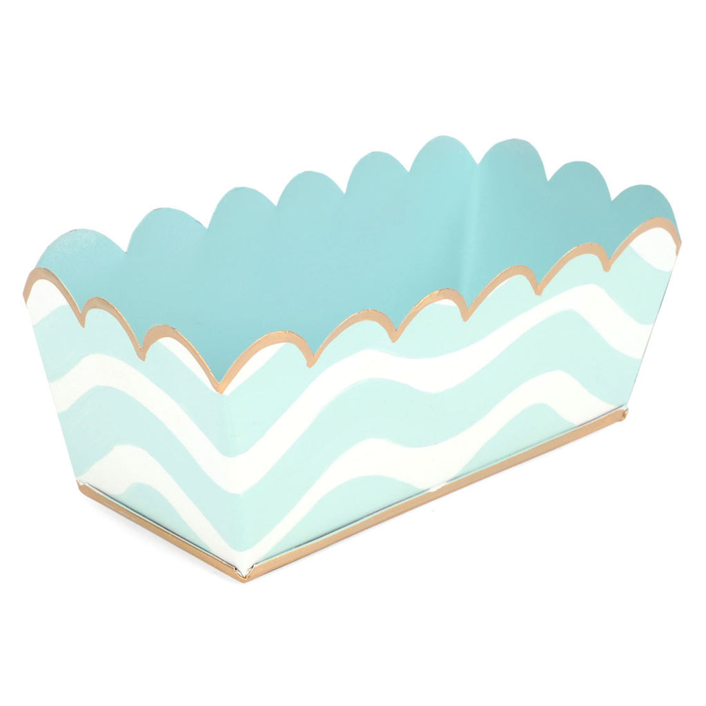 Tole Breakers Aqua Scales Desk Tray - Hattan Home - 4
