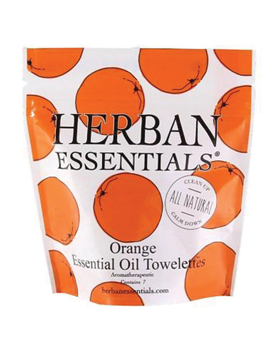 Herban Essentials Orange Essential Oil Towelettes