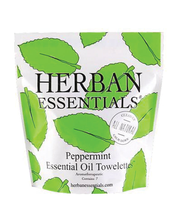 Herban Essential Peppermint Essential Oil Towelettes