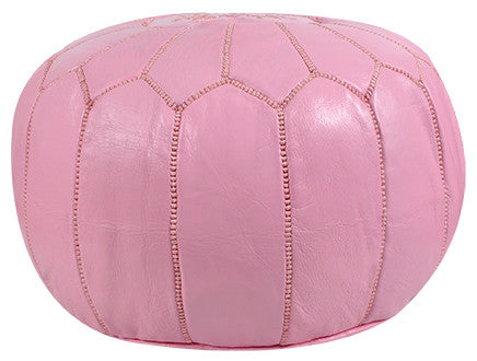 Moroccan Pouf In Light Pink