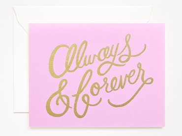 Rifle Paper Always + Forever Gold Foil Card - Hattan Home - 3