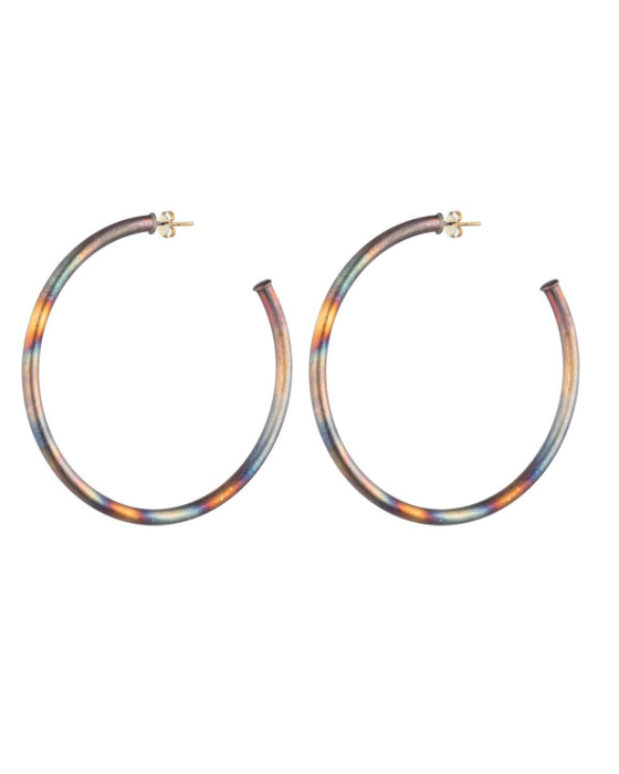 Sheila Fajl Everyerybody's Favorite Hoops in Burnished Gold