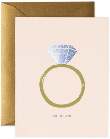 Rifle Paper Congrats Engagement Card - Hattan Home - 2