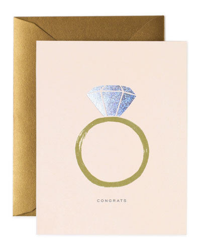 Rifle Paper Congrats Engagement Card - Hattan Home - 1