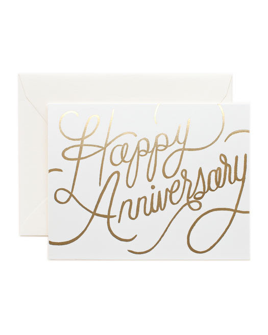 Rifle Paper Happy Anniversary Card - Hattan Home - 1