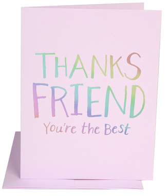 Thanks Friend Card - Hattan Home - 2