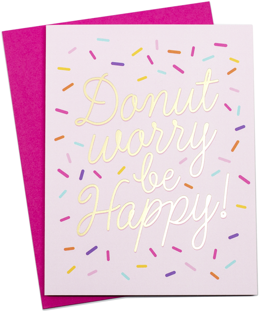 Donut Worry Card - Hattan Home - 2
