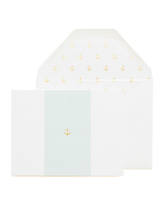Sugar Paper LA Anchor on Blue card - Hattan Home - 1