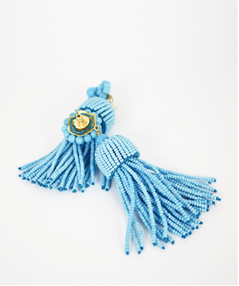 Lisi Lerch Tassel Earrings in Turquoise - Hattan Home - 5