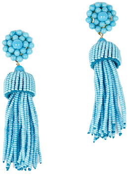 Lisi Lerch Tassel Earrings in Turquoise - Hattan Home - 2