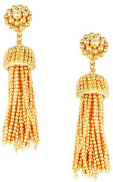 Lisi Lerch Tassel Earrings in Gold - Hattan Home - 2