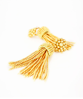 Lisi Lerch Tassel Earrings in Gold - Hattan Home - 4