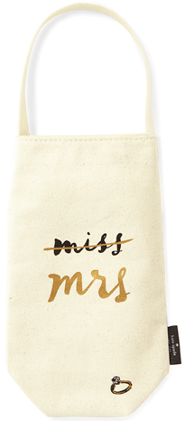 Kate Spade Miss to Mrs. Bridal Wine Tote - Hattan Home - 2