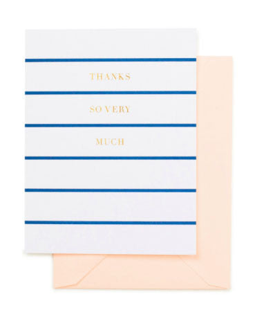 Sugar Paper LA Thanks So Very Much, Blue Stripe - Hattan Home - 1