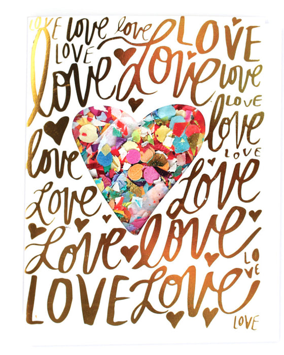 Thimblepress Love Confetti Card - Hattan Home - 1