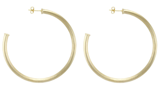 Sheila Fajl Everybody's Favorite Brushed Gold Hoops - Hattan Home - 3