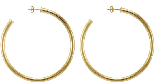Sheila Fajl Everybody's Favorite Shiny Gold Hoops - Hattan Home - 2