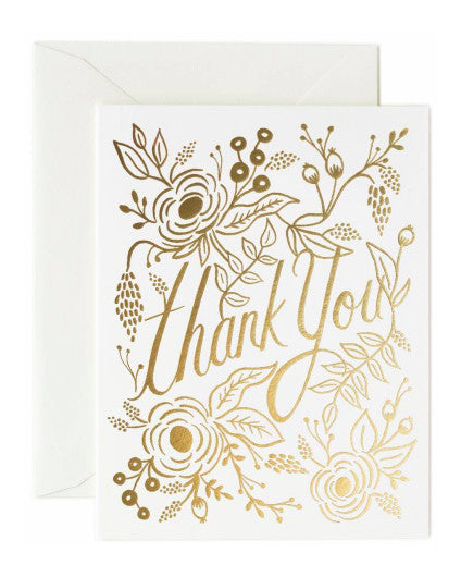 Rifle Paper Marion Thank You Card - Hattan Home - 1