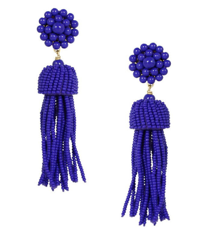 Lisi Lerch Tassel Earrings in Royal Blue - Hattan Home - 2
