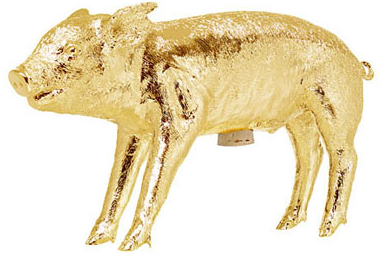 Harry Allen Piggy Bank in Gold - Hattan Home - 4