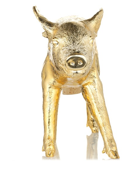 Harry Allen Piggy Bank in Gold - Hattan Home - 5