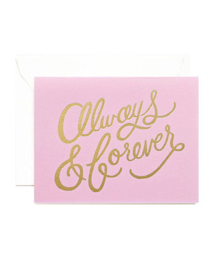 Rifle Paper Always + Forever Gold Foil Card - Hattan Home - 1