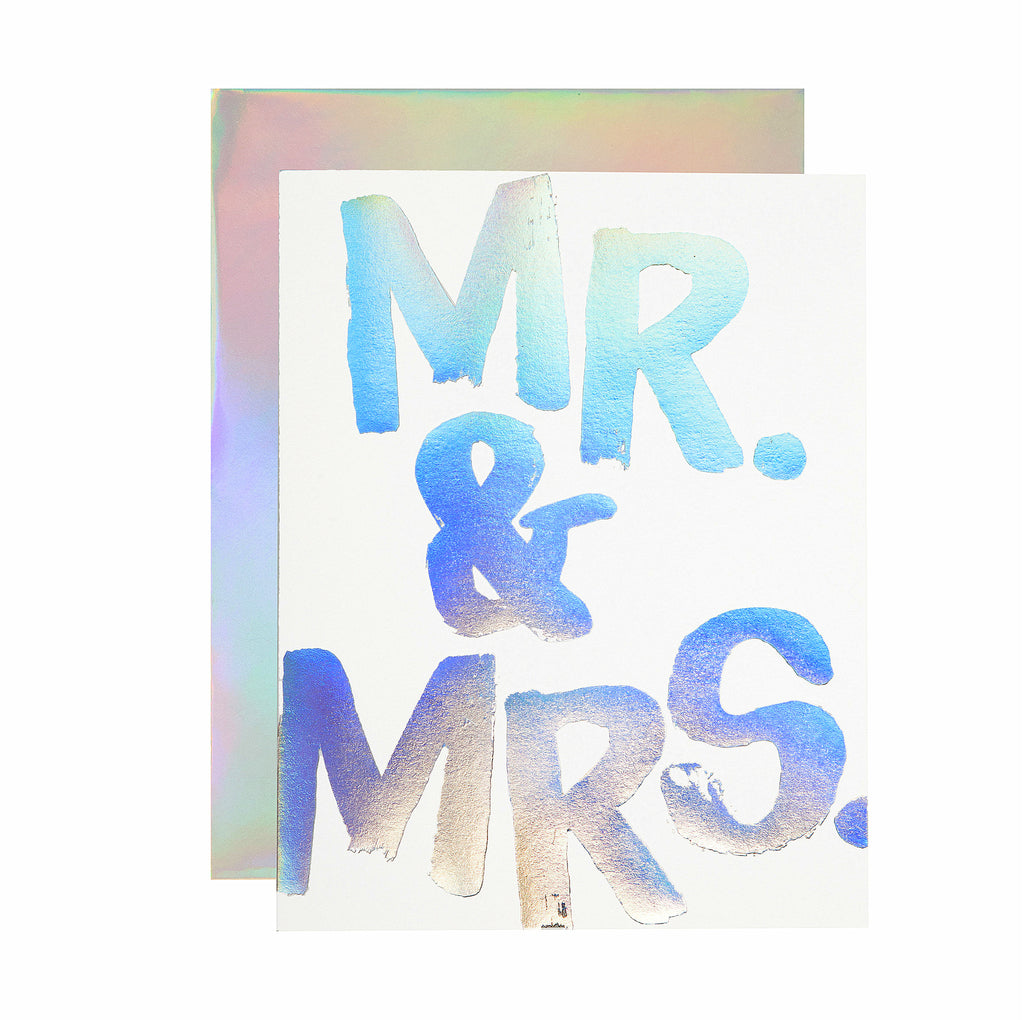 Mr. & Mrs Hologram Card - Hattan Home - 2