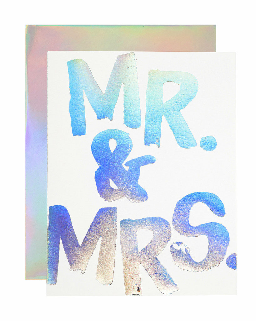 Mr. & Mrs Hologram Card - Hattan Home - 1