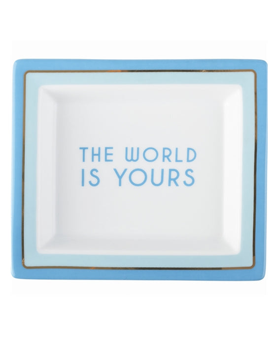 The World is Yours Porcelain Tray