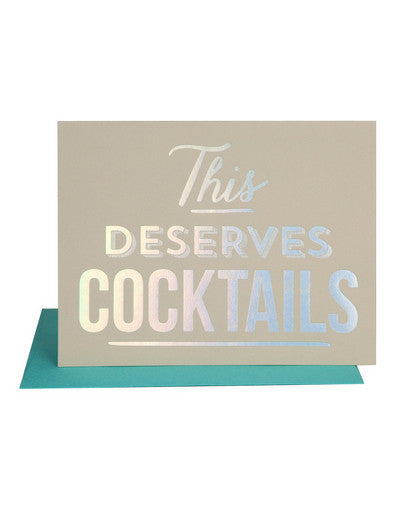 This Deserves Cocktails Card - Hattan Home - 1