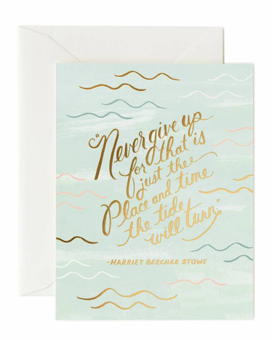 Rifle Paper The Tide Will Turn Card